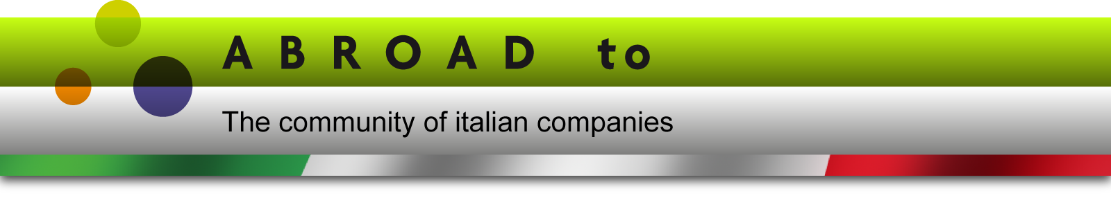 Abroad to - The community of italian companies